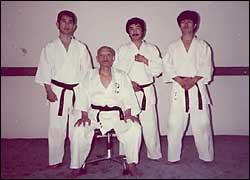 スペインでの指導稽古(1983年)